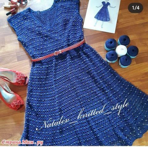 Женское платье Nostalgie крючком 1