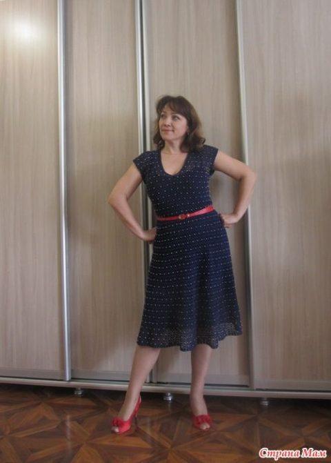 Женское платье Nostalgie крючком 5