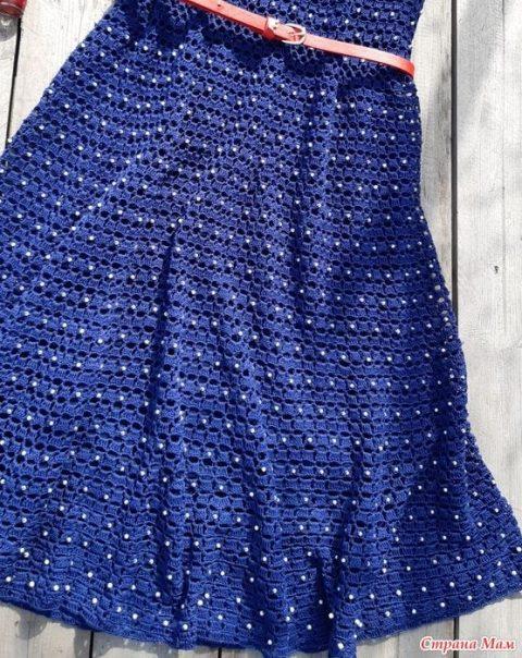 Женское платье Nostalgie крючком 6