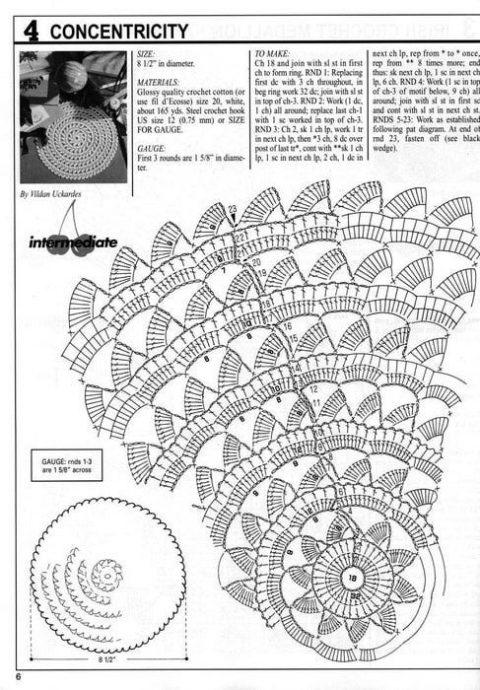 Подборка схем для вязания беретов крючком 4