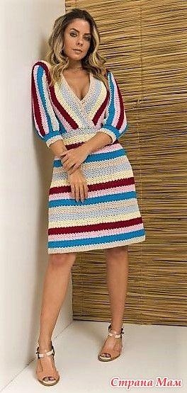 Красивое платье крючком 1