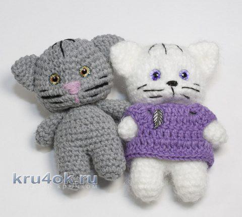 Кот крючком - пушистая игрушка амигуруми (схема и видео-урок).