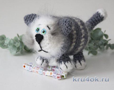 Толстый кот крючком, простая игрушка амигуруми