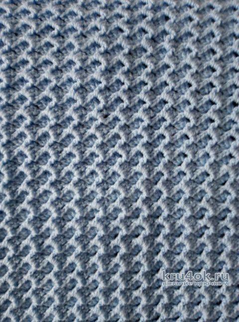 Детский плед крючком. Работа Николая Мошкина вязание и схемы вязания