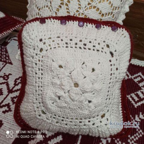 Диванные подушки крючком. Работы Галины Бофановой вязание и схемы вязания