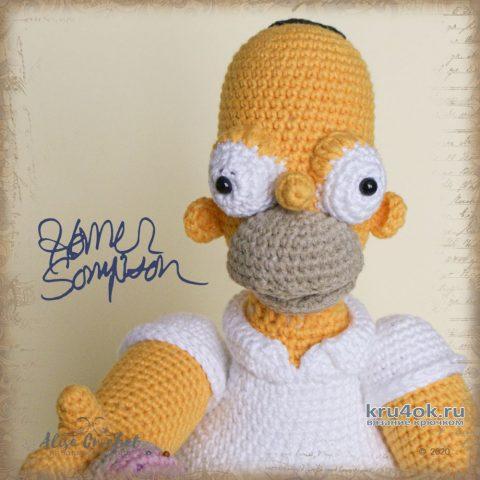 Гомер Симпсон - вязанная крючком игрушка. Работа Alise Crochet вязание и схемы вязания