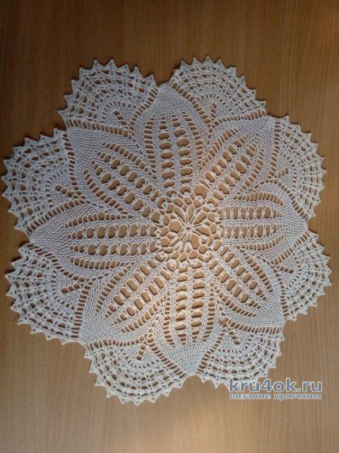 Круглая салфетка крючком. Работа Alla Devileneva вязание и схемы вязания