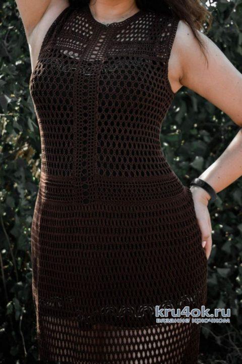 Платье крючком Шик по-королевски. Работа Alla Devileneva вязание и схемы вязания