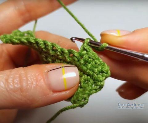 Пико крючком - 5 видов простой и красивой обвязки края, видео-урок