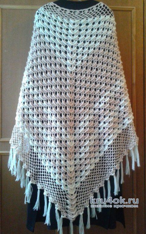 Шаль крючком. Работа Галины Коржуновой вязание и схемы вязания