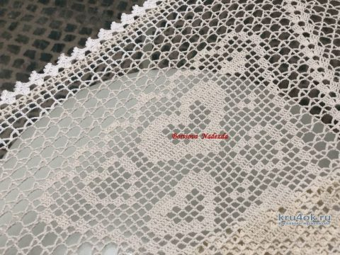 Скатерть Аромат уюта. Работа Надежды Борисовой вязание и схемы вязания