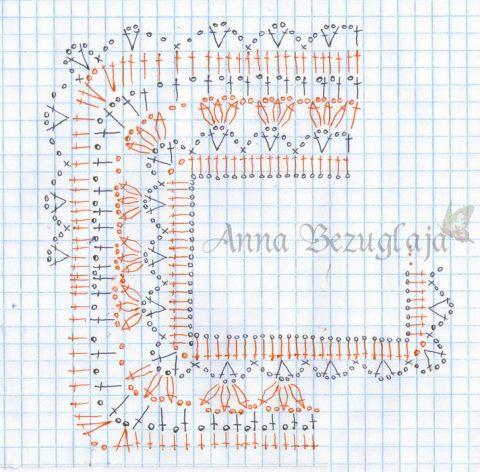 Схемы вязания сарафана крючком