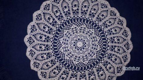 Круглая салфетка - скатерть крючком. Работа Марии Варт вязание и схемы вязания