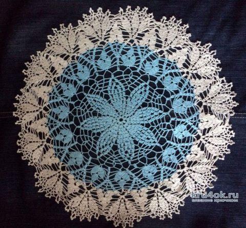 Круглая салфетка крючком. Работа Кузьминовой Татьяны вязание и схемы вязания