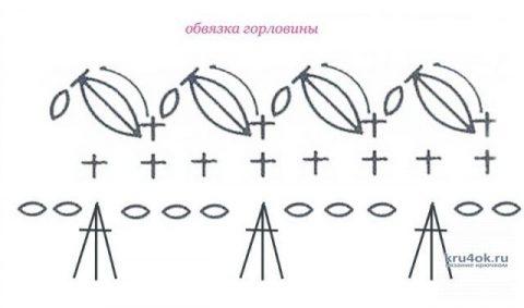Летняя кофточка крючком. Работа Ольги Остапенко вязание и схемы вязания