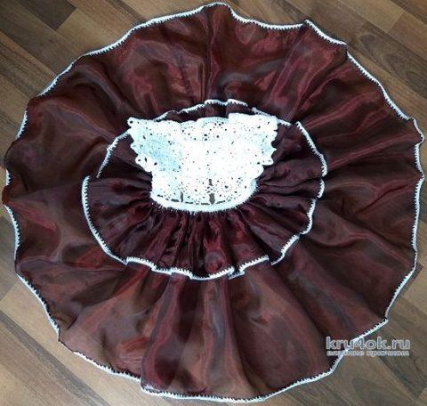 Платье детское Сливочная вишенка крючком, видео-урок вязание и схемы вязания