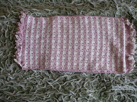 Вязанный крючком шарф. Работа Елены
