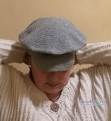 Вяжем кепу-фуражку крючком, видео-урок вязание и схемы вязания