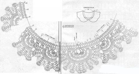 Схемы вязанияворотничков из интернет