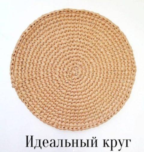 Вяжем идеальный круг крючком