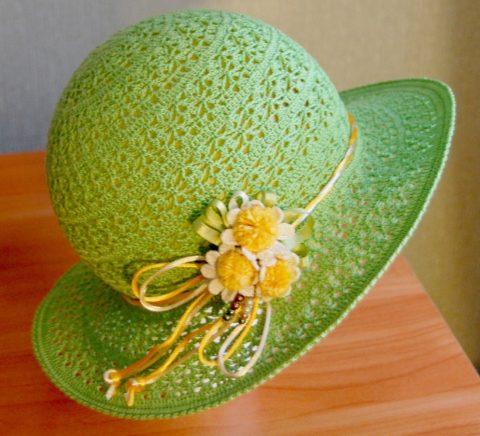 Ажурная шляпа для женщин, мастер-класс