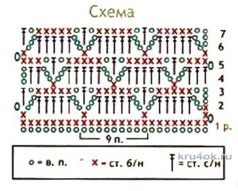 Вязанный крючком шарф. Работа Елены вязание и схемы вязания