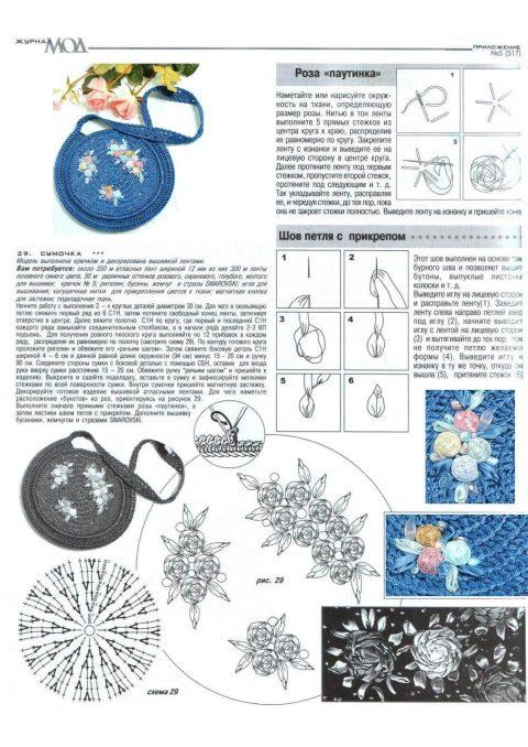 Схемы вязания круглых летних сумок крючком