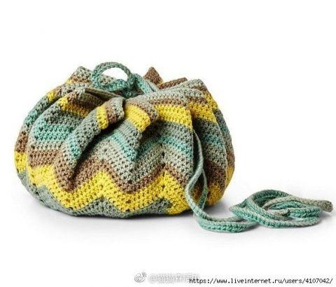 Летний коврик - сумка крючком