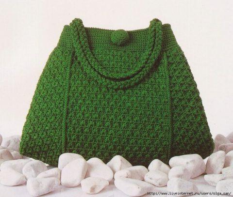Зеленая летняя сумка