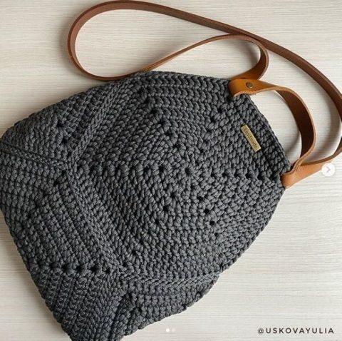 Летняя сумка Геометрия крючком