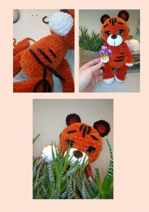 плюшевый тигр амигуруми символ 2022 года