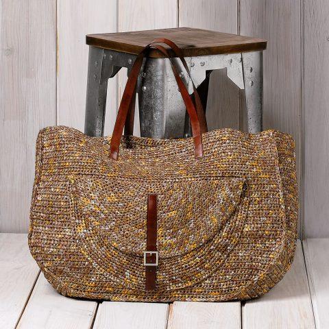 Стильная летняя сумка крючком