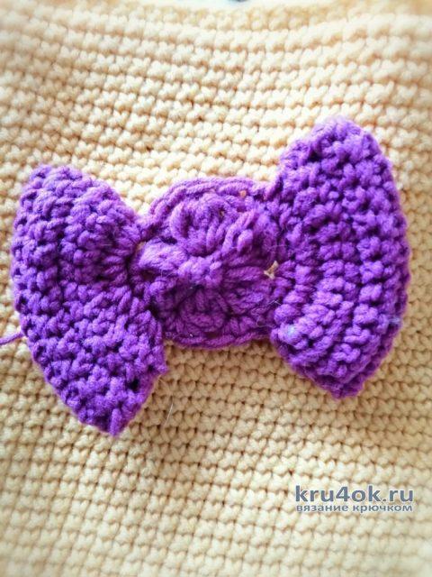 Декоративная подушка крючком. Работа Светланы вязание и схемы вязания