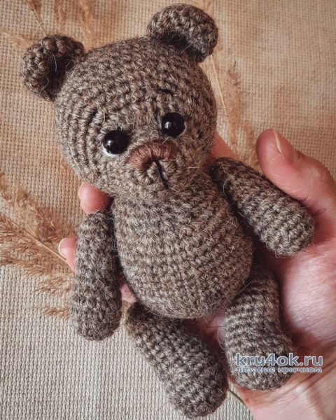 Мишка крючком. Работа Ксении вязание и схемы вязания