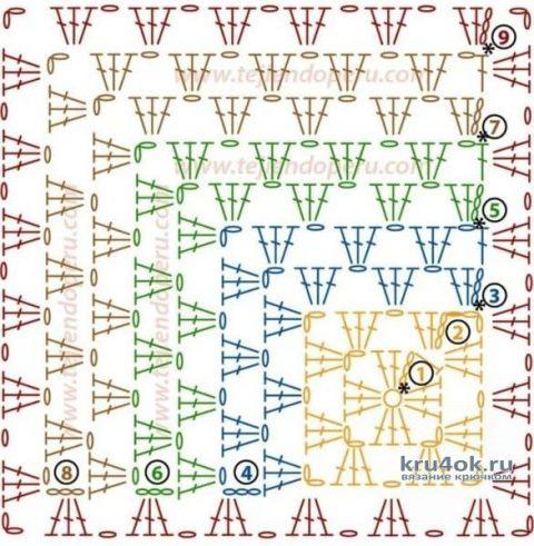 Плед 3D крючком. Работа Николая Мошкина вязание и схемы вязания