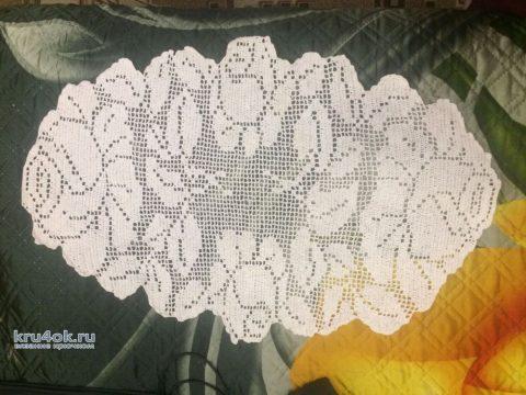 Салфетка в технике филейного кружева. Работа Кузьминовой Татьяны