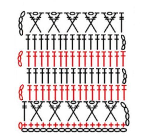 Схема вязания юбки крючком: