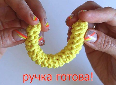 1 способ вязания крючком ручек