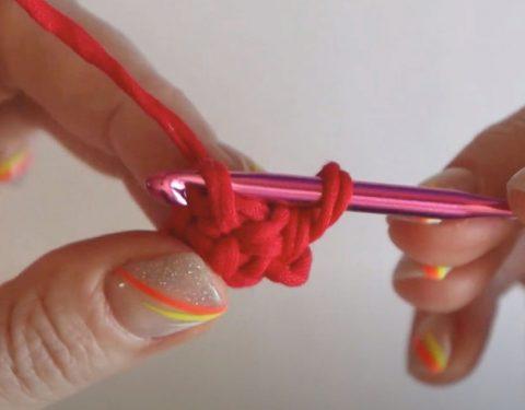 3 способ вязания крючком ручек для сумки или рюкзака