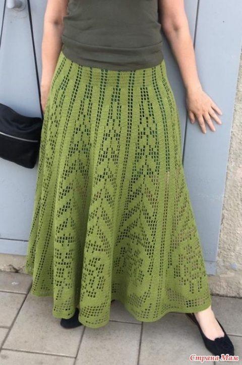 Летняя юбка для женщин крючком 2