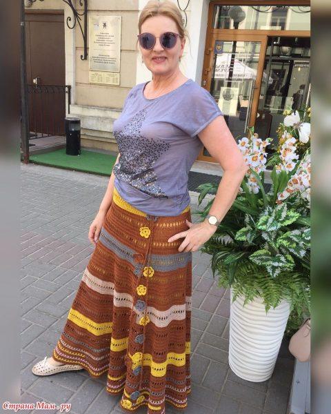 Летняя юбка крючком 1