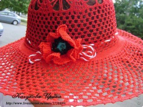 Ажурная шляпа крючком 3
