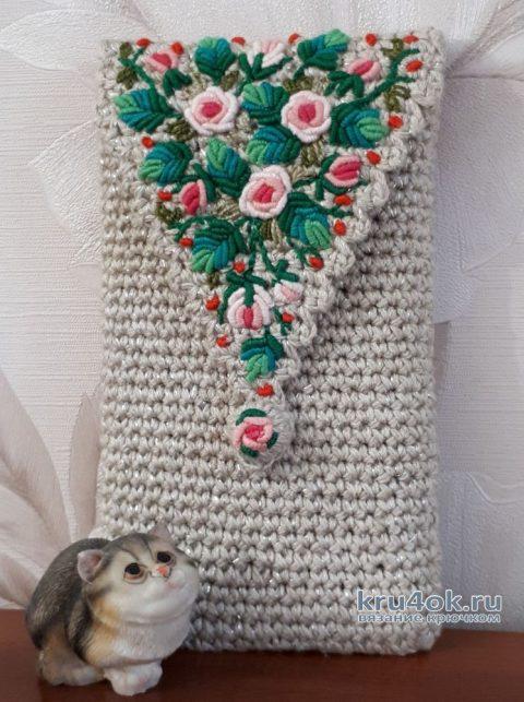 Чехол для смартфона с вышивкой рококо. Мастер-класс! вязание и схемы вязания