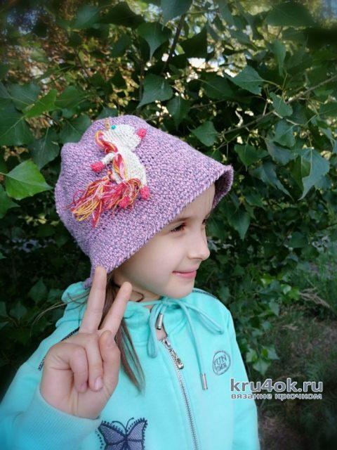 Как быстро и просто связать зачётную шляпку для девочки. Работа Светланы