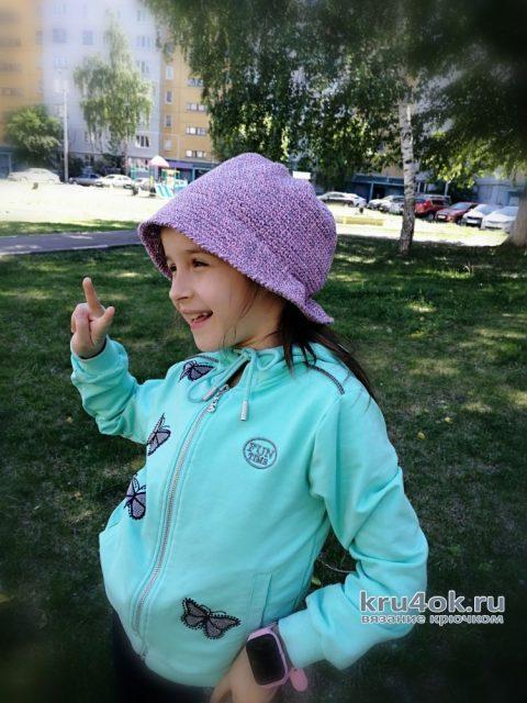 Как быстро и просто связать зачётную шляпку для девочки. Работа Светланы вязание и схемы вязания