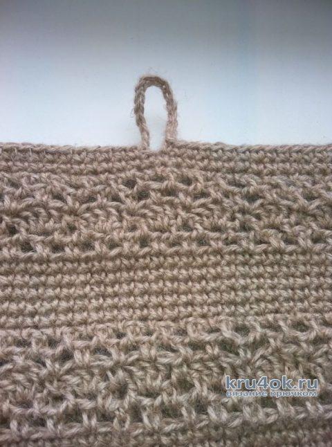 Сумка Лето из джута, связанная крючком. Работа Марины Панасюк вязание и схемы вязания