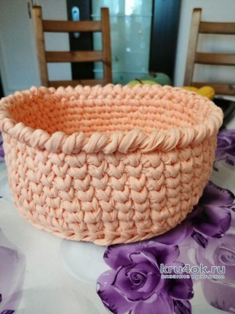 Вязанная крючком еда - корзина с фруктами. Работа Светланы вязание и схемы вязания