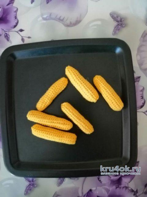 Вязанная крючком еда. Вкусняшки. Картофель фри вязание и схемы вязания