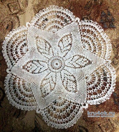 Вязанные крючком салфетки. Работы Кузьминовой Татьяны вязание и схемы вязания