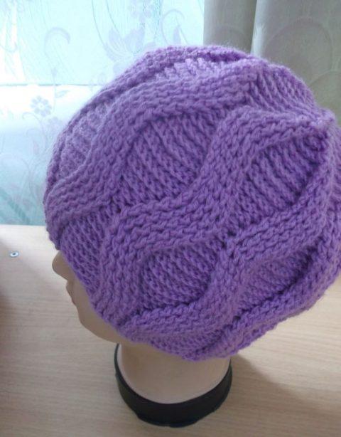 теплая женская шапка крючком